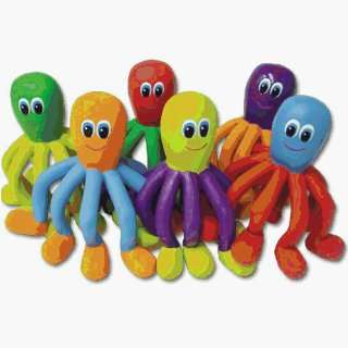 Physical Education Games Critters   6 Color Rubber Octopi