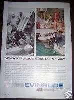 1965 EVINRUDE OUTBOARD Boat Motor vintage ad