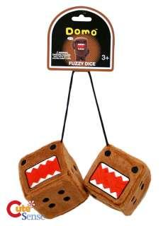 Domo Kun Plush Dice / Fuzzy Hanging Plush Car Auto Accessories