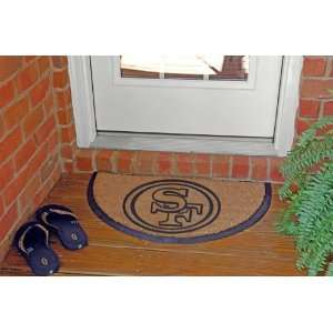 NFL San Francisco 49ers Logo Half Moon Doormat 29 Patio