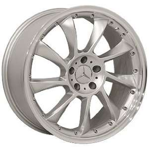 (4) HYPER SILVER 19 INCH MERCEDES BENZ WHEELS RIMS