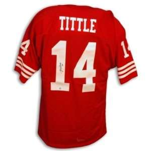 Y.A. Tittle Signed San Francisco 49ers NFL t/b Jersey