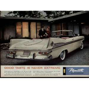 1959 Plymouth Fury Convertible Ad, A5399A. 19590209