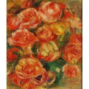 Paintings A Bowlful of Roses Oil Painting Canvas Art Home & Kitchen