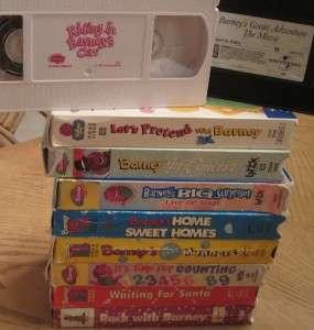 HUGE Lot 20 VHS VIDEOS BARNEY & FRIENDS DINOSAUR SANTA ROCK COUNT ZOO