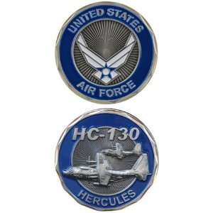 United States US Air Force Wings Crest Military HC 130 Hercules Plane