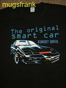 Knight Rider Kitt Car The Original Smart Car Black T Shirt