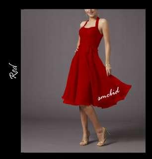 New Halter Prom Bridesmaids Cocktail Dress*Sz AU 8~22