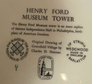 WEDGWOOD HISTORICAL PLATE FORD MUSEUM TOWER 30% OFF