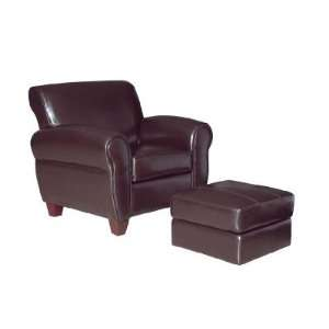 Bycast Leather Mate Club Chair & Ottoman World Import