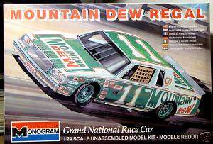Monogram #11 Darrell Waltrip 1981 82 Mountain Dew Buick Regal