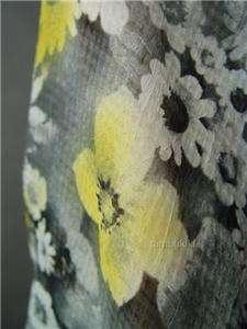 SHEER Floral Chiffon 70s Loose Fit Top Shirt Blouse M