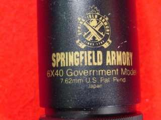Springfield Armory 6x40 308 7.62mm Government Model Rifle Scope