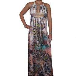 Twelve Womens Floral Halter Top Maxi Dress  Overstock