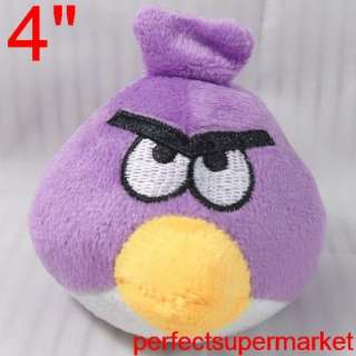 Noble 4 Inches Purple Angry Birds Plush Toy Soft Set 4 BA10