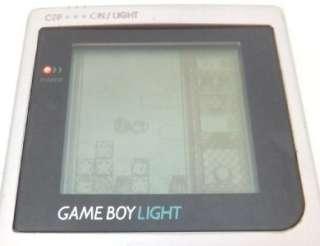 NINTENDO GAME BOY LIGHT SILVER CONSOLE SYSTEM+KIRBY NO KIRAKIRA KIDS