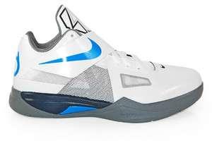 Kids Nike Zoom KD IV (GS) White Blue Grey 479436 100 Basketball Shoes
