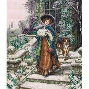 A Winter Rose   Cross Stitch Kit Toys & Games