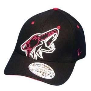 NHL LNH PHOENIX COYOTES BLACK FLEX FIT MED LG HAT CAP