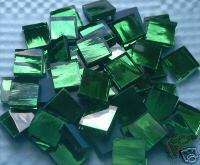 500 HANDCUT MOSAIC TILES GLASS GREEN MIRRORS 1/2 ART