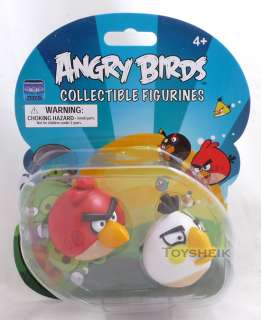 Angry Birds Figurines Red & White Commonwealth 10514 022286910514