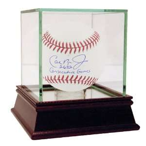 Baseball with 2632 Consecutive Games Inscription