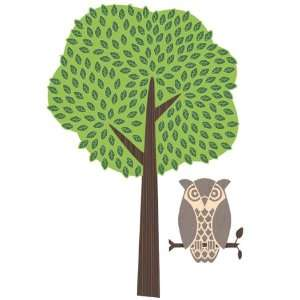 Wall Hugs Tree and Owl Wall Decal