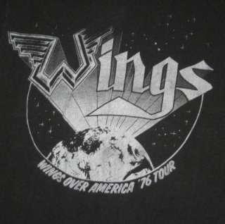 1976 WINGS TOUR VTG T SHIRT the Beatles Paul McCartney