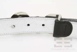 Dolce & Gabbana Black Patent Leather & Crystal Monogram Belt Size