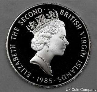 1985 BRITISH VIRGIN ISLANDS SILVER $20 DOLLARS COIN