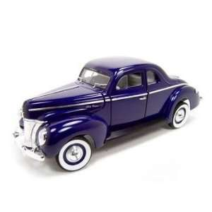 1940 FORD DELUXE COUPE BLUE 118 DIECAST MODEL Everything