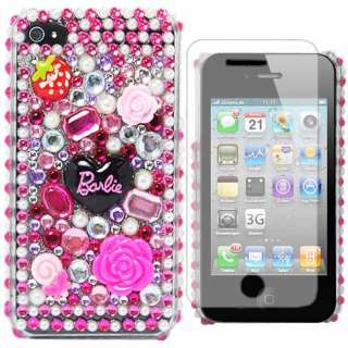 Barbie Butterfly Flower Princess Pearl Gemstone Diamond Case For