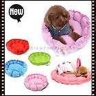Practical Unique Soft Slumber Pet Sherpa Donut Round Dog Pet Nest Bed