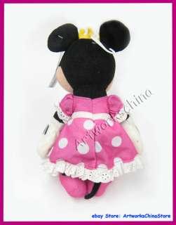 10 Disney Minnie Mouse Figure Plush Stuffed Toy Doll PINK Polka Dot