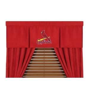 MLB St Louis Cardinals   5pc Boys Drapes and Valance Set