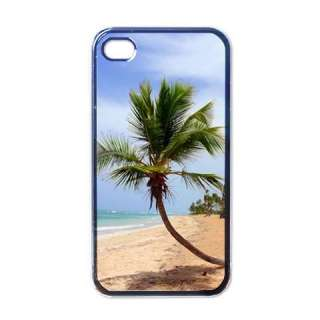 Tropical Island Palm Tree Black Apple iphone 4 Case