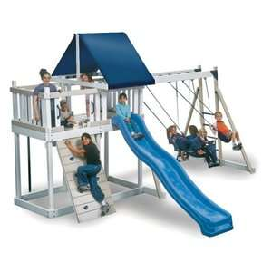 Kidwise Monkey Play Set I Wood Swing Set Outdoor Play