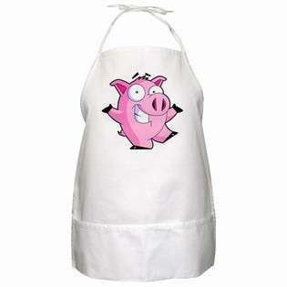 BBQ Apron of Pig Cartoon (Flying Pig, Picture of a Pig, Pig Drawing
