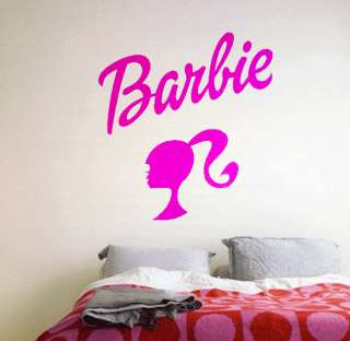 Decor Decal Vinyl Sticker Home Nursery Room Design Barbie Logo