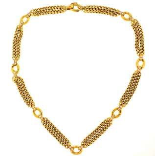 ARPELS 18K YELLOW GOLD & DIAMOND NECKLACE. 30 DIAMONDS. UNIQUE PIECE