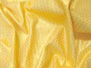 GOLDEN GOLD METALLIC BROCADE STIFF FABRIC DRAPE DRESS