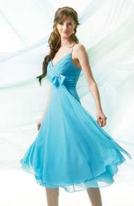 Ruching Chiffon Cocktail Bridesmaid Prom Party Ball Gowns 2012