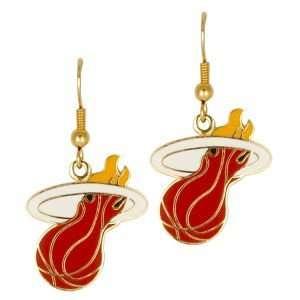 Miami Heat Logo Earrings