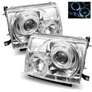 97 00 Toyota Tacoma Chrome LED Halo Projector Headlights Automotive