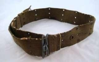 World War 2 U.S. Army Military Field Web Pistol Belt