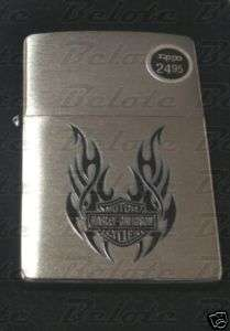 Zippo Harley Davidson Tribal Wings Brushed Chrome Windproof Lighter