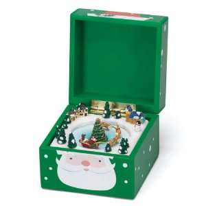 Mr. Christmas Pom Pom Music Box, Santa