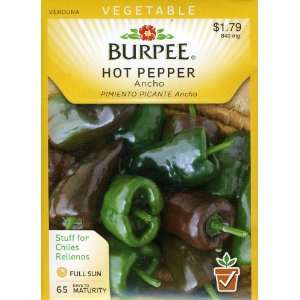 Burpee 52496 Pepper, Hot Ancho Seed Packet Patio, Lawn