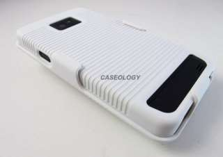 WHITE REAR HARD CASE COVER + BELT CLIP HOLSTER AT&T SAMSUNG GALAXY S