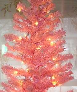 4ft Pink Pre lit Christmas/Easter tree 110 tree tips 70 clear lights